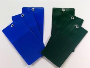 Applications of colored foils, labels, Fatra