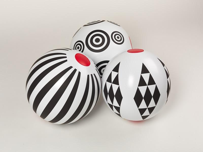 Nafukovací hračka - Míč z kolekce Black and White, Fatra