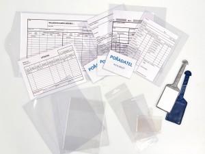 Applications the transparent foils paper folders, tags