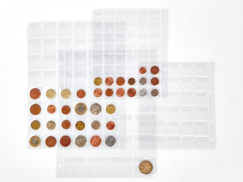 Aplikace transparentní fólie, zásobníky na mince