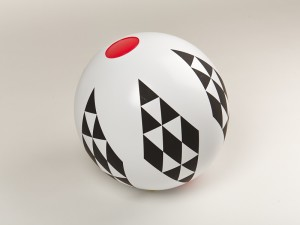 Inflatable ball, Black and White