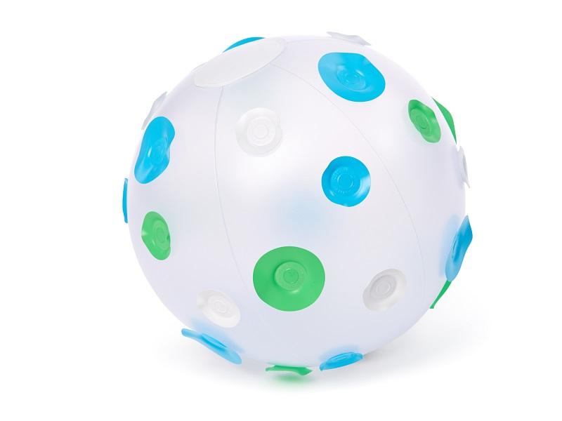 Nafukovací hračka - Míč s puntíky - modrý, Fatra