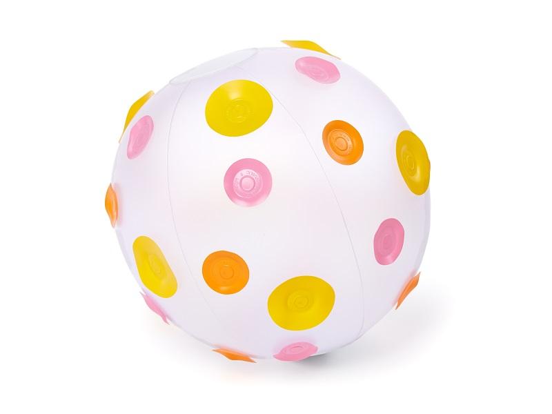 Nafukovací hračka - Míč s puntíky - růžový, Fatra