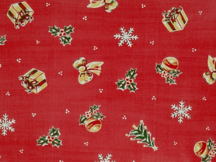 Table clothing with Christmas motifs
