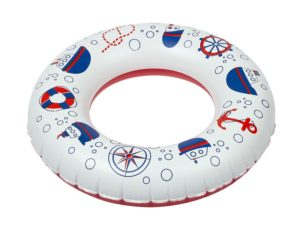 Inflatable toy, swimming ring with bubbles