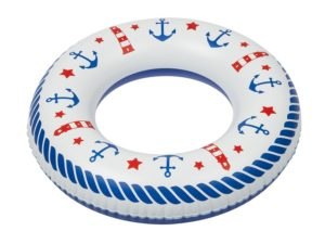 Inflatable toy, swimming ring with Lighthause