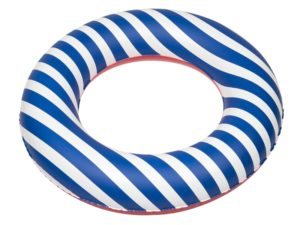 Inflatable toy, swimming ring, Blue stripes