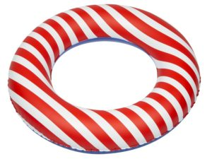 Inflatable toy, swimming ring, Red stripes