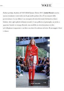 Designer modelu Lukáš Krnáč / Vogue / materiál z Fatry