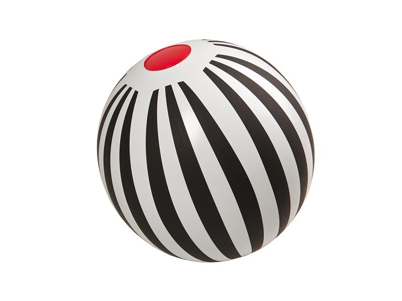 Nafukovací hračka - Míč s pruhy, Kolekce Black and White, Fatra