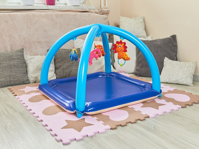 Blow up baby gym, blue-beige / Fatra