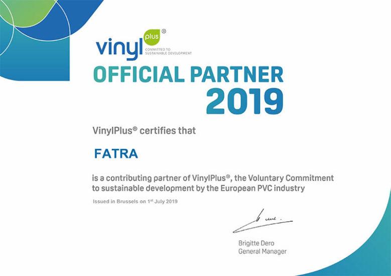 Fatra se stala partnerem společnosti VinylPlus