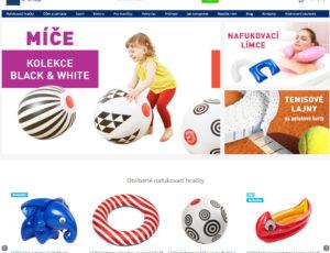 Redesign e-shopu na nafukovací hračky